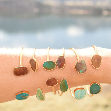 Double Turquoise Cuff: Earth