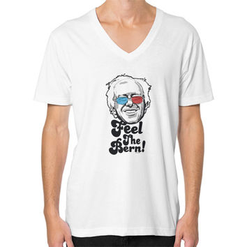 Bernie Sanders Pop Art Portrait  V-Neck (on man)