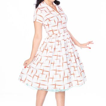Francis Dress in Red Retro print
