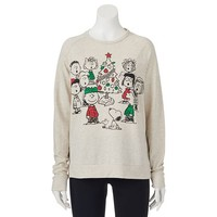 Mighty Fine Peanuts Gang Christmas Juniors' Sweatshirt