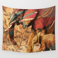 African Patterned Elephants Wall Tapestry by Inspired Images