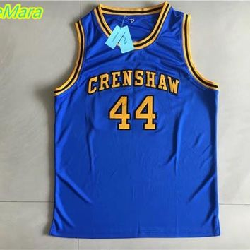2017 New Hot High School Jerseys,#44 Kobe Bryant Movie Jersey,CRENSHAW Basketball Jersey Blue Color Free Shipping