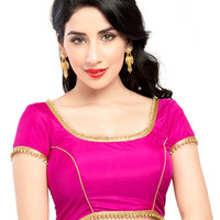 Classy Pink Ready-Made Saree Blouse X-144S