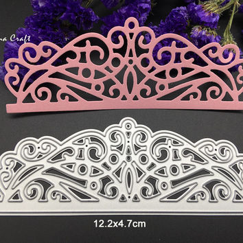 Metal cutting dies for Scrapbook album paper craft home decor embossing stencil template crown side margin dies