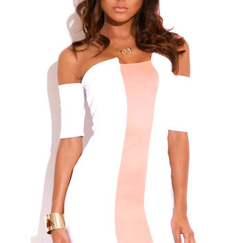 Pink & White Mini Dress