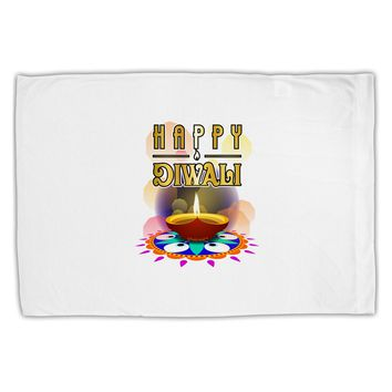 Happy Diwali - Rangoli and Diya Standard Size Polyester Pillow Case by TooLoud