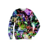 Sparkly rainbow Liquid Metal texture Sweatshirt created by Blooming Vine Design | Print All Over Me