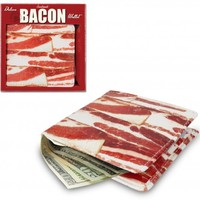 Accoutrements Bacon Wallet l Novelty Gift Kitsch Joke