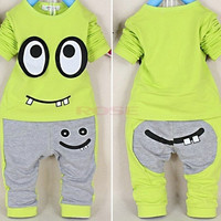 New Spring Baby Boys Girls Clothes Set Cotton Cartoon Print Tops + Pant Twinset Long Sleeve Baby Clothing Sets SV006716|28001 Children's Clothing