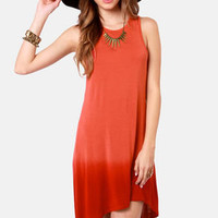 Rhythm To Die Rust Red Ombre Dress
