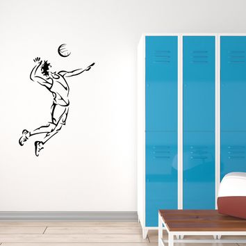 Vinyl Decal Wall Sticker Home Decor for Sport Volleyball Player Team Unique Gift (g063)