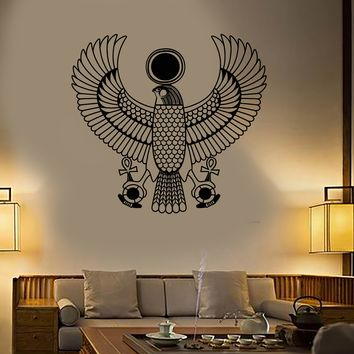 Vinyl Wall Decal Egyptian God Ra Style Symbol Egypt Stickers Unique Gift (1998ig)