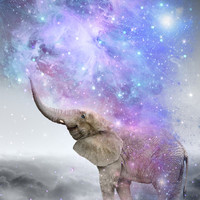 Don't Be Afraid To Dream Big • (Elephant-Size Dreams) Art Print by Soaring Anchor Designs