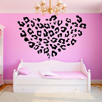 "Leopard Print Girls Teen Room Vinyl Wall Decal Graphics 22""x22"" Bedroom Decor"