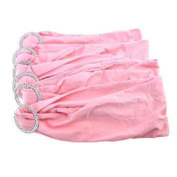 Spandex Chair Sash with Buckles, 13-Inch, 6-Piece, Pink