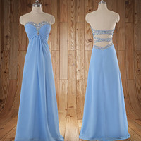 Long Prom dress Sweetheart  A Line Wedding Party Dress Long  Bridesmaid Dresses Long Prom Dresses party dress,formal dress