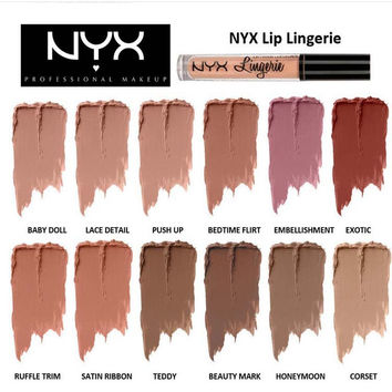 NYX Lingerie Matt Velvet Waterproof Lip Gloss [8939383943]