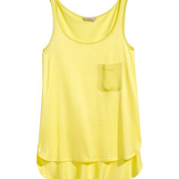 Tank Top with Chest Pocket - from H&M
