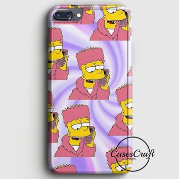 Bart Simpson Pattern iPhone 7 Plus Case | casescraft