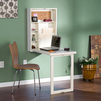 Upton Home Murphy Winter White Fold-out Convertible Desk