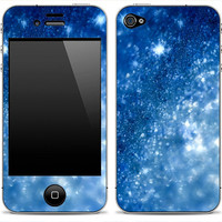 Blue Sparkle iPhone 3GS, iPhone 4/4s, iPhone 5, iPod Touch 4th or 5th gen, Samsung Galaxy S2 or S3 Skin