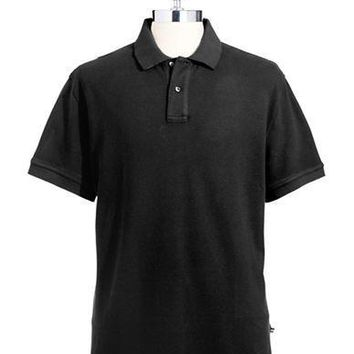 Black Brown 1826 Pique Polo Shirt
