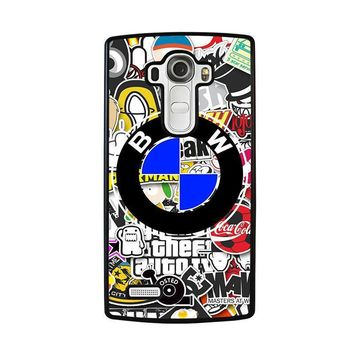 bmw sticker bomb lg g4 case cover  number 1
