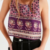 UO Alexa Boho Cropped Cami | Urban Outfitters