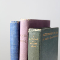 SALE FREE SHIP antique book collections / 1900s pastel books