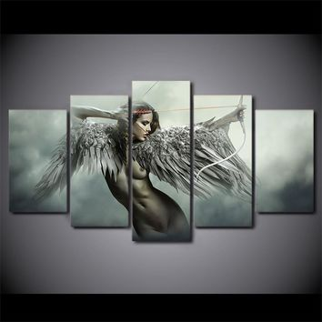 5 piece canvas art sets fantasy angel warrior wings wall art
