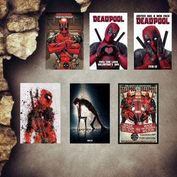 Deadpool Dead pool Taco  Plaque Vintage Metal Tin Signs Home Bar Pub Shop Decorative Metal Plates Superhero Wall Stickers Art Poster MN3 AT_70_6