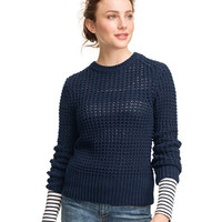 Signature Waffle Crewneck Sweater: Sweaters | Free Shipping at L.L.Bean