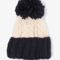 Wool-Blend Colorblocked Beanie