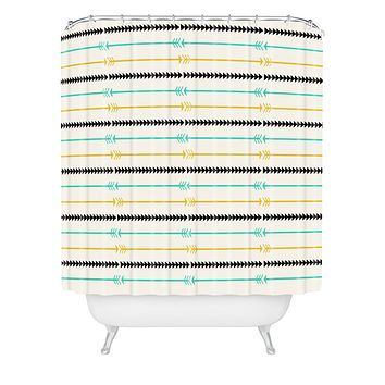 Allyson Johnson Arrow Pattern Shower Curtain