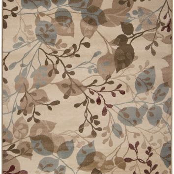Paramount Floral and Paisley Area Rug Neutral
