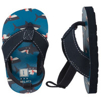 Carter's Pre-Walkers Shark Flip Flops with Back Strap