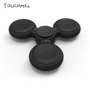 Bluetooth Speaker Spinner Led Light Fidget Toy Wireless Support microphone calls for Android Hand Sp
