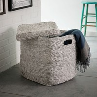 Metallic Woven Oversized Basket