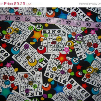 Bingo fabric to quilt balls board cotton quilting sewing material to craft by the yard