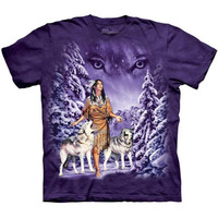 EYES Native American T-Shirt The Mountain Wolf Wolves Indian Sizes S-3XL NEW