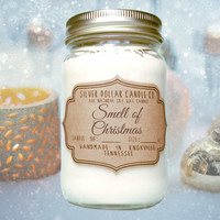 16oz Christmas Scented Candle, Christmas Gifts, Mason Jar, Smell of Christmas, Christmas for her, Secret Santa, Holiday Candle, Xmas gifts