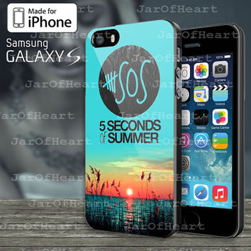5 Seconds Of Summer Meadow Logo (5Sos) Design Case for iphone 4/4S,iphone 5/5S/5C or Samsung Galaxy S3/S4/S5