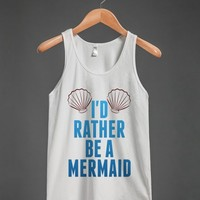 I'D RATHER BE A MERMAID TANK TOP COLOR ID7141906