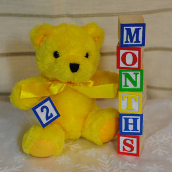 Birthday Collection in Wooden Alphabet Letter Blocks- Photo Prop for Birthday Parties