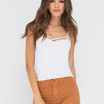 Sweet Breeze Strappy Cropped Tank