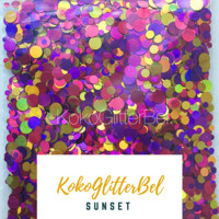 Holographic Glitter Mix Dots - Sunset