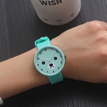 New Fashion Students Children Watch Kids Watches Girls Silicone Wrist Clock Child Hours Brand Quartz Wristwatch For Girl Gift