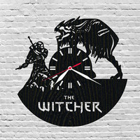 The witcher/Birthday gifts/Video game/Gamer gift ideas/Wooden unique/Wall decor reclaimed/Christmas gift him/Boys room/Geralt/Wild hunt