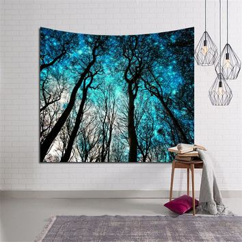Fresh Morning Forest Wall Decor Tapestry Wall Hanging Boho  Beach Throw Towel Yoga Mat Blanket Table Cloth Decoration Carpets