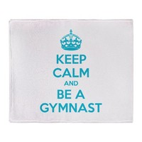 Keep calm and be a gymnast Throw Blanket by Designalicious